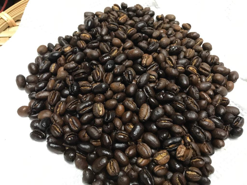 コーヒー焙煎完成